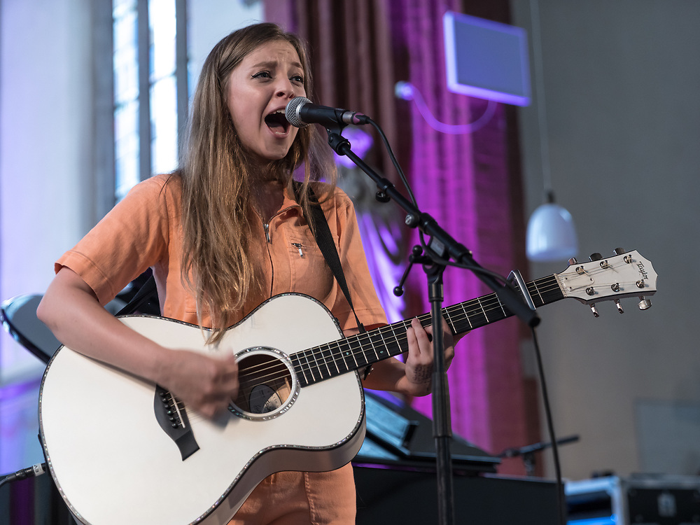 British singer-songwriter Jade Bird at St George's Church as part of Haldern Pop Festival