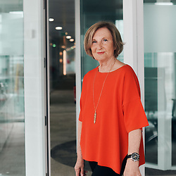 Marie-Odile Amaury, posing at the headquarter of the Groupe Amaury, of which she's the CEO. Boulogne-Billancourt, France. June 4, 2021.<br /> Marie-Odile Amaury, prenant la pose au siege du groupe Amaury dont elle est PDG. Boulogne-Billancourt, France. 4 juin 2021.