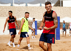 Jamie Paterson of Bristol City celebrates after scoring a goal in beach football - Mandatory by-line: Matt McNulty/JMP - 18/07/2017 - FOOTBALL - Tenerife Top Training Centre - Costa Adeje, Tenerife - Pre-Season Training