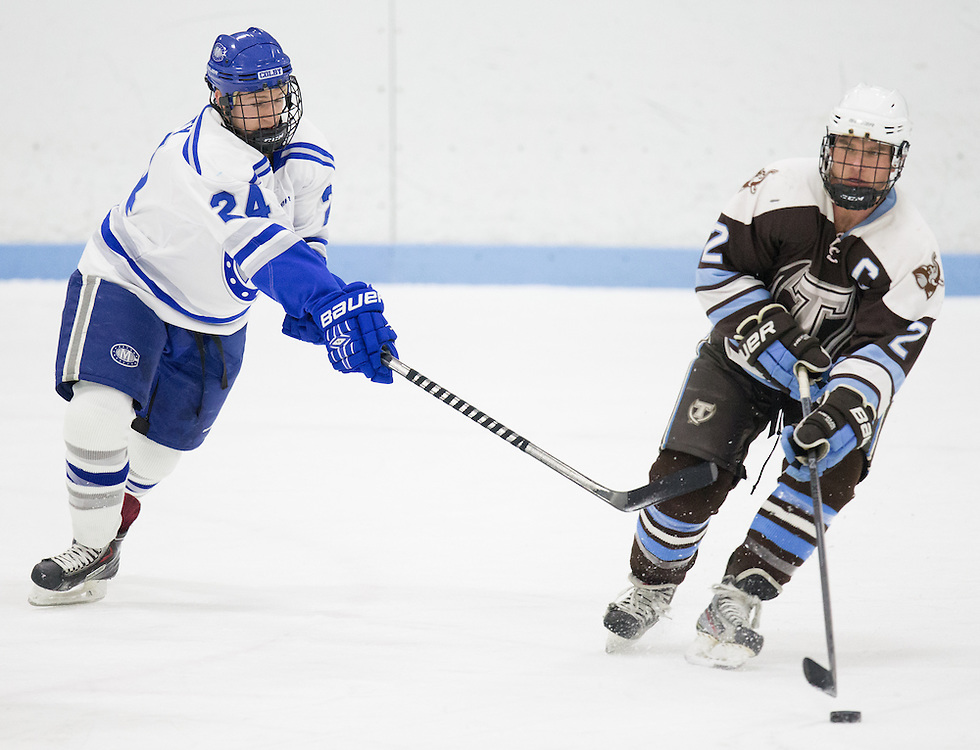 Kevin Doherty, of Colby College, in a NCAA Division III hockey game against Tufts University on February 20, 2015 in Waterville, ME. (Dustin Satloff/Colby College Athletics)