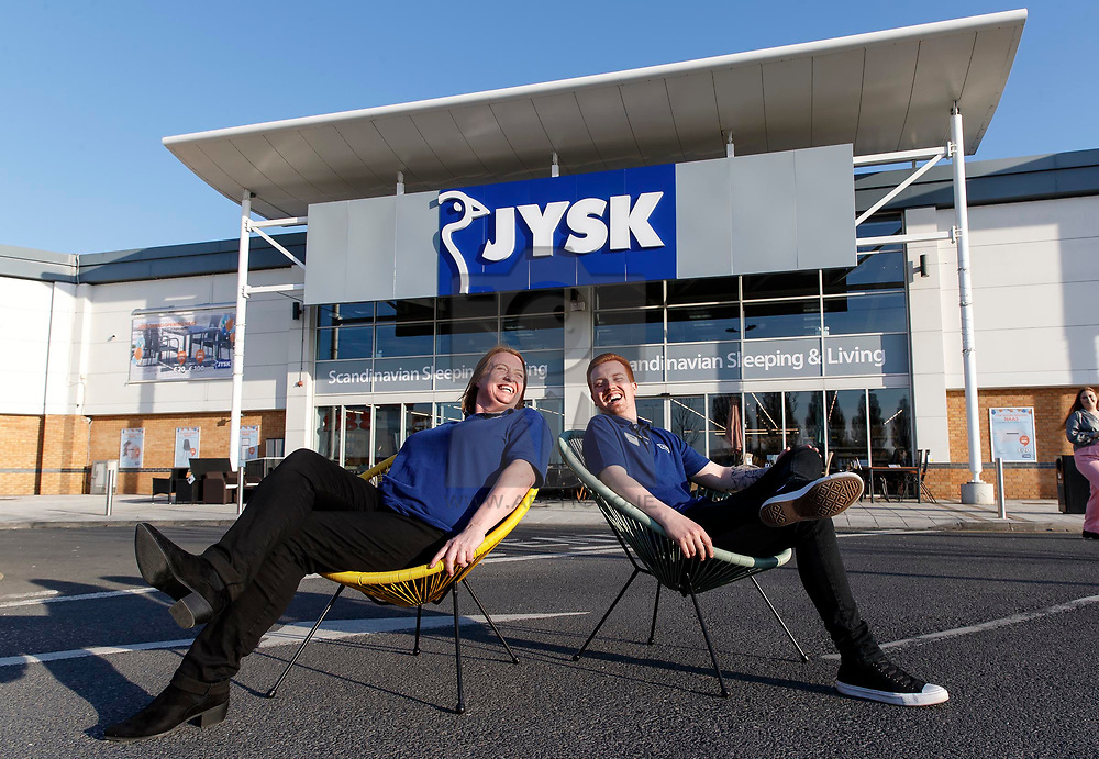 29/03/2019 <br /> Karen Ostergaard-Madsen and Evan Walsh pictured at a special preview of the first Irish JYSK store in Naas, Co. Kildare. It is the first of 15 JYSK homewares stores set to open across Ireland over the next two years, with the creation of 200 jobs. www.jysk.ie Picture Andres Poveda
