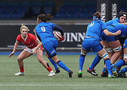 February 2, 2020, Cardiff, United Kingdom: Sara Barattin (Italy) seen in action during the women's Six Nations Rugby between wales and Italy at Cardiff Arms Park in Cardiff. (Credit Image: © Graham Glendinning/SOPA Images via ZUMA Wire)