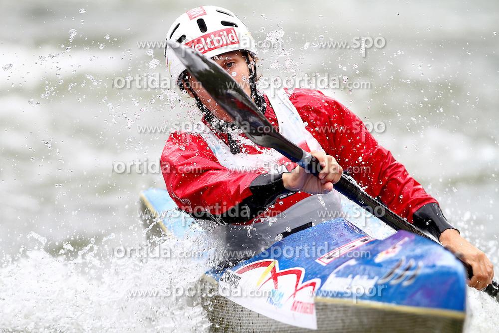 11.06.2011, Eiskanal , Augsburg, GER, ICF Wildwater Canoeing Sprint 2011 , im Bild Manuela Stoeberl (GER) , EXPA Pictures © 2011, PhotoCredit: EXPA/ nph/  Straubmeier       ****** out of GER / SWE / CRO  / BEL ******