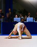 Lucia Bellavista atleta della Società Gymnica 96 di Forlì durante la seconda prova del Campionato Italiano di Ginnastica Ritmica.<br /> La gara si è svolta a Desio il 31 ottobre 2015.