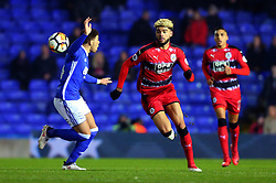Philip Billing of Huddersfield Town takes on Che Adams of Birmingham City - Mandatory by-line: Robbie Stephenson/JMP - 06/02/2018 - FOOTBALL - St Andrew's Stadium - Birmingham, England - Birmingham City v Huddersfield Town - Emirates FA Cup fourth round proper