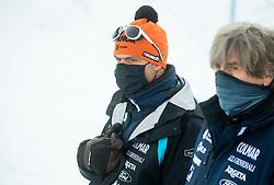 Miha Verdnik, coach of Slovenia and Polde Flisar during Ladies' Giant Slalom at 57th Golden Fox event at Audi FIS Ski World Cup 2020/21, on January 16, 2021 in Podkoren, Kranjska Gora, Slovenia. Photo by Vid Ponikvar / Sportida
