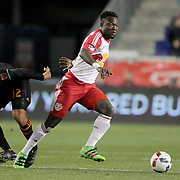 Gideon Baah, New York Red Bulls, in action during the New York Red Bulls Vs Houston Dynamo, Major League Soccer regular season match at Red Bull Arena, Harrison, New Jersey. USA. 19th March 2016. Photo Tim Clayton