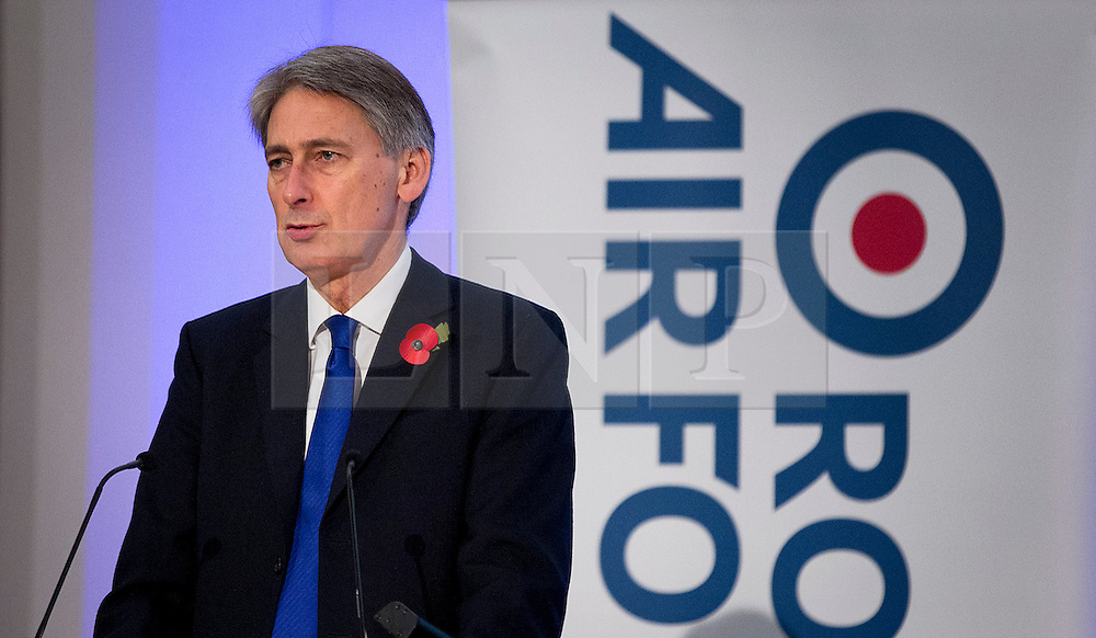 © Licensed to London News Pictures. 01/11/2012. London, UK. Philip Hammond, Secretary of State for Defence, is seen talking at the Chief of the Air Staff's Air Power Conference 2012 held by the Royal United Services Institute (RUSI) in Westminster, London, today (01/11/12). Photo credit: Matt Cetti-Roberts/LNP
