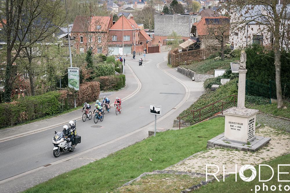 early breakaway group<br /> <br /> 18th Ronde van Vlaanderen 2021<br /> Elite Womens Race (1.WWT)<br /> <br /> One Day Race from Oudenaarde to Oudenaarde 152km<br /> <br /> ©RhodePhoto