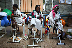 Young women recover from fistula surgery at the The Addis Ababa Fistula Hospital, a common result of prolonged obstucted labor and early marriage in Addis Ababa, Ethiopia on May 30, 2007. Women who have fistulas are often shunned in their villages and thought of a cursed by God.