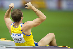 Maksym Mazuryk of Ukraine competes in the men's Pole Vault Final during day eight of the 12th IAAF World Athletics Championships at the Olympic Stadium on August 22, 2009 in Berlin, Germany. (Photo by Vid Ponikvar / Sportida)
