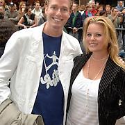 NLD/Amsterdam/20060626 - Premiere Over the Edge, Sander Jan Klerk en partner Erica