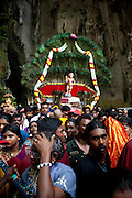 Thaipusam Festival, Batu Caves, Malaysia. It is a Hindu festival celebrated mostly by the Tamil community on the full moon in the Tamil month of Thai (Jan/Feb). The festival celebrates the birth of Murugan,the youngest son of Shiva and his wife Parvati. The festival at Batu Caves, Kuala Lumpur culminates in a 272 step climb into the cave.