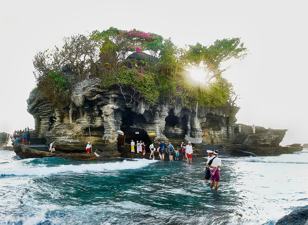 Tanah Lot temple with back light