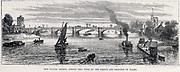 Putney Bridge, London, opened 29 May 1886.