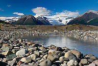 Glacial terminal ponds of the Kennecott Glacier, Wrangell-St. Elias National Park Alaska