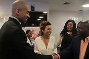 NEW YORK, NY-NOVEMBER 18: (L-R) NBA Player Dantay Jones and wife, Author/Activist Valeisha Butterfield Jones, Founder & CEO, WEEN attends the 5th Annual W.E.E.N Awards held at the The Schomburg Center for Research in Black Culture on November 18, 2015 in Harlem, New York City.  (Terrence Jennings/terrencejennings.com)