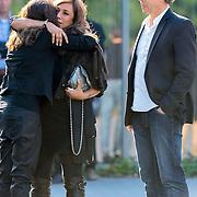 NLD/Bilthoven/20120618 - Uitvaart Will Hoebee, Patty Brard en partner Antoine van den Vijver