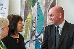 Pictured: Ms Freeman discusses costs with Donald Forrest, Head of Finance at West Lothian<br /> Minister for Social Security Jeane Freeman visited The Bathgate Partnership Centre today to launch the first local jobs with Social Security Scotland.<br /> <br /> Ms Freeman met with staff within this muti-functional community hub that is the type of venue where local social security staff will be based.<br /> <br /> These are the first of, at least, 400 local jobs that will be created across Scotland. Social Security Scotland staff will be based in every local authority area to provide face-to-face support for people using the new social security system.<br /> <br /> Ger Harley | EEm 24 April 2018