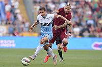 Miroslav Klose Lazio, Radja Nainggolan Roma.<br /> Roma 25-05-2015 Stadio Olimpico. Football Calcio 2014/2015 Serie A. Lazio - Roma. Foto Antonietta Baldassarre / Insidefoto