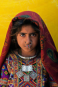 Jat tribal girl, near Bhuj, Gujarat