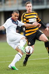 Falkirk's Phil Roberts.<br /> Alloa Athletic 0 v 0 Falkirk, Scottish Championship 12/10/2013. played at Recreation Park, Alloa.<br /> ©Michael Schofield.