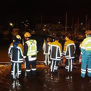 Auto te water Havenstraat haven van Huizen,