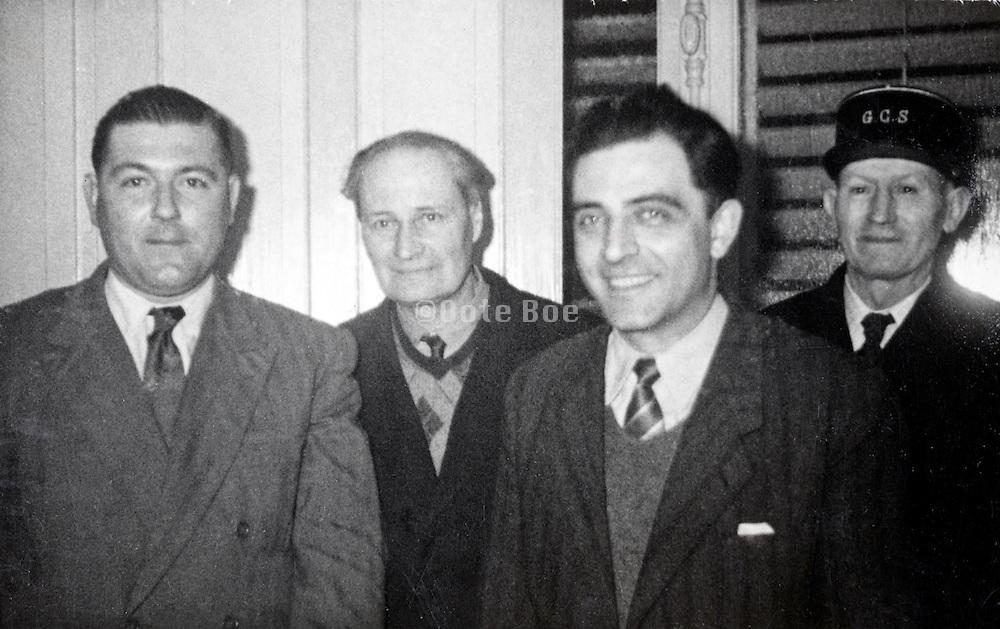 adult casual group portrait France 1950s