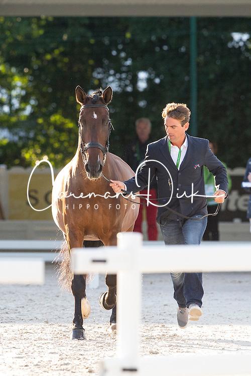 Arnaud Serre, (FRA), Robinson De Lafont De Massa - Horse Inspection Dressage - Alltech FEI World Equestrian Games™ 2014 - Normandy, France.<br /> © Hippo Foto Team - Leanjo de Koster<br /> 25/06/14