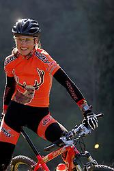 MTB Rider Blaza Klemencic of Pintatim, on October 18, 2005, Bukovscica  pri Skofji Loki, Slovenia. (Photo by Vid Ponikvar / Sportal Images)..