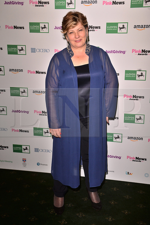 © Licensed to London News Pictures. 17/10/2018. London, UK. Emily Thornberry attends the Pink News Awards 2018 held at Church House. Photo credit: Ray Tang/LNP