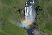 Skogafoss waterfall in south-Iceland.
