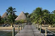 dock and beach at Kanantik Resort, Stann Creek District, near Dangriga, Belize, Central America ( Caribbean Sea )