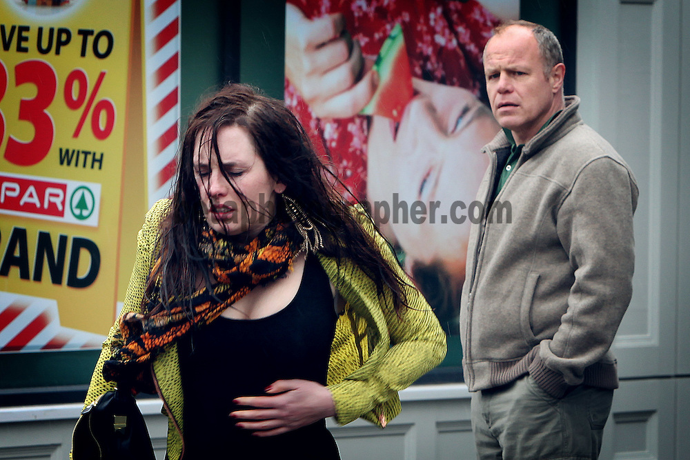 Fair City Eps 83<br /> TX Thursday 17th May 2012 <br /> Caoimhe lies about her absence from work<br /> L – R<br /> Caoimhe - Aoibhinn McCaul<br /> Pete - Enda Oates