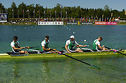 2005 FISA Rowing World Cup Munich,GERMANY. 19.06.2005;.IRL M4- Bronze medallist  Photo  Peter Spurrier. .email images@intersport-images...[Mandatory Credit Peter Spurrier/ Intersport Images] Rowing Course, Olympic Regatta Rowing Course, Munich, GERMANY