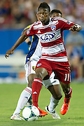 FRISCO, TX - JULY 13:  Fabian Castillo #11 of FC Dallas brings the ball up field against Real Salt Lake on July 13, 2013 at FC Dallas Stadium in Frisco, Texas.  (Photo by Cooper Neill/Getty Images) *** Local Caption *** Fabian Castillo