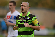 Forest Green Rovers midfielder Liam Noble (15) during the Vanarama National League match between Forest Green Rovers and Dagenham and Redbridge at the New Lawn, Forest Green, United Kingdom on 29 October 2016. Photo by Alan Franklin.