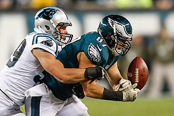Philadelphia Eagles tight end Brent Celek #87 attempts to catch a pass during the NFL game between the Carolina Panthers and the Philadelphia Eagles at Lincoln Financial Field in Philadelphia, Pennsylvania on Monday November 10th 2014. The Eagles won 45-21. (Brian Garfinkel/Philadelphia Eagles)
