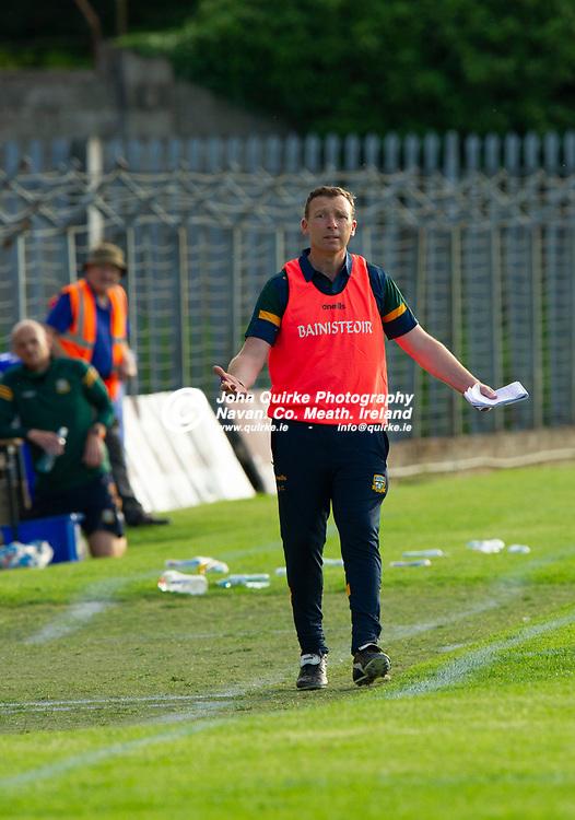15-07-21. Meath v Dublin - Eirgrid Leinster U-20 Football Championship Semi-Final at Pairc Tailteann, Navan.<br /> Barry Callaghan, Meath Manager.<br /> Photo: John Quirke / www.quirke.ie<br /> ©John Quirke Photography, 16 Proudstown Road, Navan. Co. Meath. (info@quirke.ie / 046-9028461 / 087-2579454).