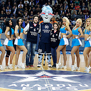 Anadolu Efes's show girls and Supporters fans during their Turkish Airlines Euroleague Basketball playoffs Game 3 Anadolu Efes between Olympiacos at Abdi ipekci Arena in Istanbul, Turkey, Wednesday, April 17, 2013. Photo by Aykut AKICI/TURKPIX