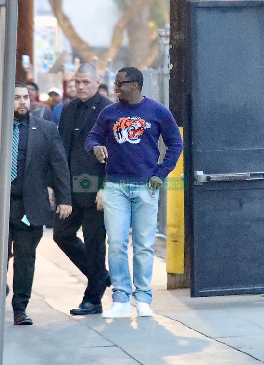 """Sean """"Diddy"""" Combs Plugs His Latest Show at Kimmel. 03 Jan 2018 Pictured: Sean Combs. Photo credit: APEX / MEGA TheMegaAgency.com +1 888 505 6342"""
