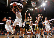 Nov. 14, 2010; Charlottesville, VA, USA; Virginia guard Whitny Edwards (2) grabs a rebound in front of Mount St. Mary's guard Syd Henderson (22)  during the game at the John Paul Jones Arena. Virginia won 81-58. Mandatory Credit: Andrew Shurtleff