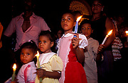 Semana Santa (Holy Week). Palm Sunday in the Spanish Colonial town of Mompox, where Gabriel Garcia Marquez based his 100 years of Solitude setting: Macondo