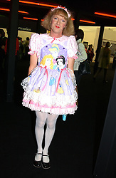 Artist GRAYSON PERRY at a private view of the 2004 Frieze Art Fair - a major exhibition attended by most of the leading contempoary art dealers held in Regents Park, London on 14th October 2004.NON EXCLUSIVE - WORLD RIGHTS