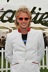 SAM BRANSON  at the 25th annual Cartier International Polo held at Guards Polo Club, Great Windsor Park, Berkshire on 26th July 2009.