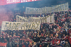 STYLEPREPENDRed Bulls fans greet before 2nd leg MLS Cup Eastern Conference semifinal game between Red Bulls and Columbus Crew SC at Red Bul Arena Red Bulls won 3 - 0 agregate 3 - 1 and progessed to final  (Credit Image: © Lev Radin/Pacific Press via ZUMA Wire)