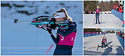 Team GB's Shawna Pendry competes in the women's 10km individual biathlon competition at the Lausanne 2020 Youth Olympic Games at Les Tuffes ski resort in France. January 2020