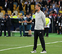 KIEV, UKRAINE - MAY 26: Jurgen Klopp, Manager of Liverpool during the UEFA Champions League final between Real Madrid and Liverpool at NSC Olimpiyskiy Stadium on May 26, 2018 in Kiev, Ukraine. (MB Media)