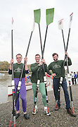 """Putney. London. GREAT BRITAIN;  left to right. Frans GOEBEL, Niall O'TOOLE and Peter HAINING.<br /> <br /> 1995 Thames World Sculling Championships, Putney to Mortlake. Championship Course, River Thames.<br /> <br /> [Mandatory Credit; """"Photo, Peter Spurrier/Intersport-images]"""