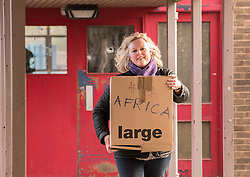 A thousand desks and a thousand chairs from the now closed Portobello High School are set to embark on a new life - in Africa. The City of Edinburgh Council is working with a number of partners, including charity Chance for Africa, to find new homes for surplus equipment from the 1960s building. While some equipment is being moved to other schools across the city, some is travelling much further. Former pupil Sandra Abdulai returned to her old school, along with her husband Zak Abdulai, founder of Chance for Africa to help start the tables and chairs off on their journey. Pictured: Ruth McKay, Portobello High School Head Teacher<br /> <br /> <br /> © Jon Davey/ EEm
